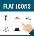 flat icon clothes set of elegant headgear vector image vector image