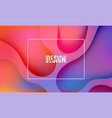 Fluid abstract colorful shapes composition trendy