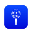 golf ball on a tee icon digital blue vector image vector image