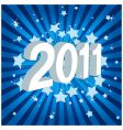 happy new year 2011 vector image vector image