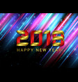 happy new year 2018 gold numbers on the black vector image