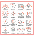 Human resource management icons - 1 vector image vector image