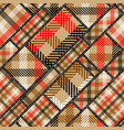 imitation of a plaid patchwork seamless pattern vector image vector image
