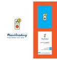 internet error creative logo and business card vector image vector image