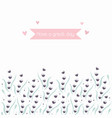 invitation greeting card with hand drawn flowers vector image vector image