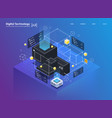 isometric design concept virtual reality and vector image vector image