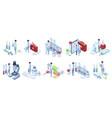 isometric doctors work pharmacy industry vector image