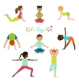 Kid Yoga Set vector image vector image