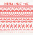 knitted dividers and borders for christmas vector image