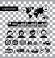 logistics export icon set vector image vector image