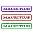 mauritius watermark stamp vector image vector image