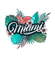 miami beach hand written lettering vector image