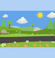nature landscape with road on summer vector image vector image