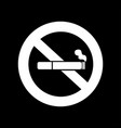 no smoking sign vector image