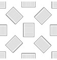 notebook icon seamless pattern on white background vector image vector image