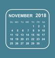 november 2018 calendar calendar planner design vector image