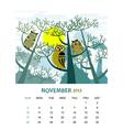 November vector image