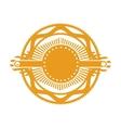 orange gear abstract art deco emblem vector image vector image