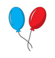 pair of carnival balloons vector image vector image