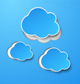 Paper blue clouds vector image