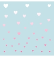 Pastel color hearths pattern vector image vector image
