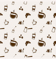pattern with coffee and tea elements vector image vector image