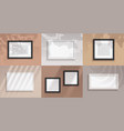 picture frames realistic blank borders for vector image