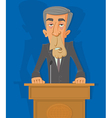 politician on the podium vector image