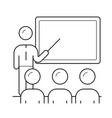 presenter at business presentation line icon vector image vector image