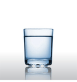 Pure mineral water in a glass vector image vector image