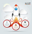 rocket for infographic vector image vector image