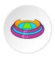 Round sports stadium icon cartoon style vector image vector image