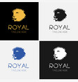 royal lion logo template set vector image