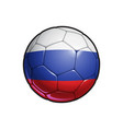 russian flag football - soccer ball vector image vector image
