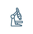 science microscope research line style icon vector image