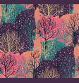seamless pattern with winter forest vector image vector image