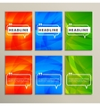 Set abstract backgrounds bright colors red blue vector image
