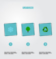 set of environment icons flat style symbols with vector image