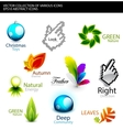 Set of various detailed design elements vector image vector image