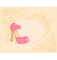 shoes vintage poster vector image