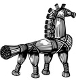 Straw horse vector image vector image