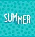 summer creative isometric typography vector image vector image