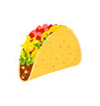 taco on white background vector image vector image