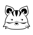 tiger flirty cute animal cartoon icon image