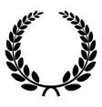 triumph wreath icon simple style vector image