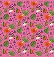 tropical pattern with monstera vector image vector image