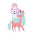 unicorn and mermaid dream cartoon vector image vector image