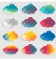 water color cloud vector image