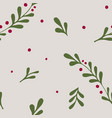 winter seamless pattern christmas elements in vector image vector image