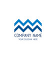 zigzag wavy logo for business company vector image